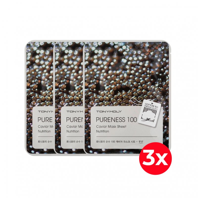 Pack X3 Tony Moly Pureness Caviar Mask