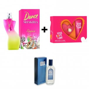 Shakira Dance Alegria 80Ml Edt + Agatha Love Love Love 80Ml Set Mas Bl 75Ml (Un American Collection 80Ml De Regalo)